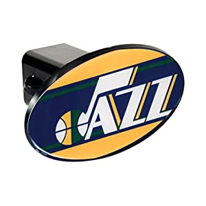 Buy Great American Products NBA Utah Jazz Team Logo Plastic Trailer Hitch Cover Black by Great American Product