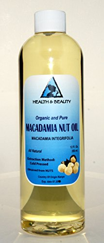 Macadamia Nut Oil Organic Carrier Cold Pressed 100% Pure 12 Oz