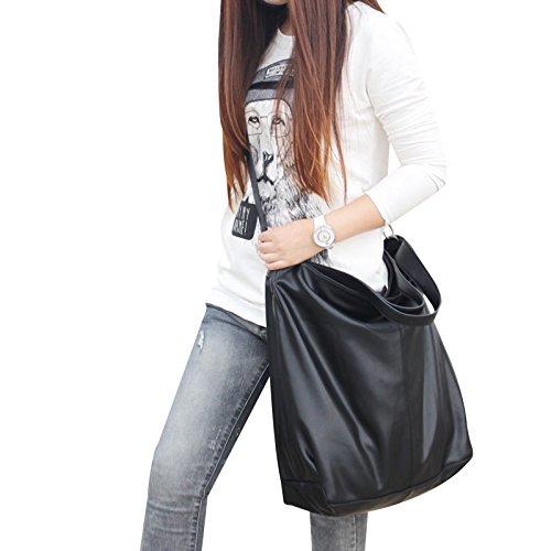 ZY Elegante borsetta. Borse morbide. Semplice singola diagonale spalla borse donna. Pacchetto di Joker , black