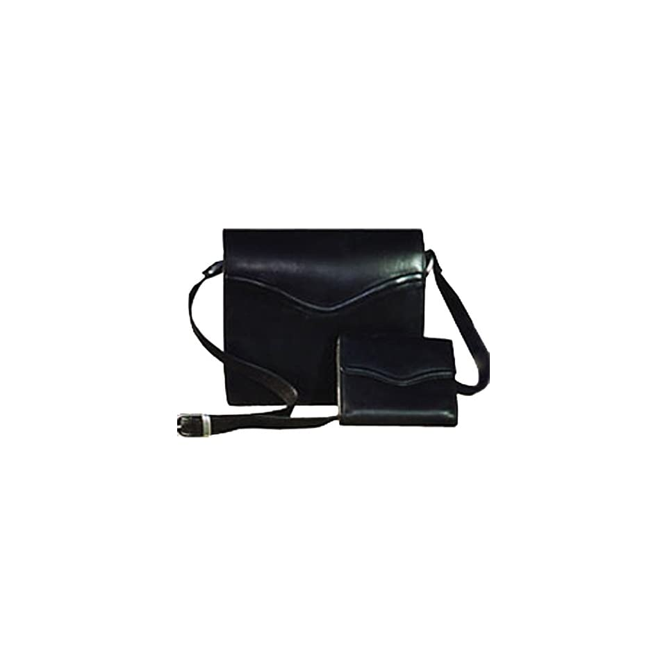 Scully Womens 204 Black Leather Handbag with Organizer
