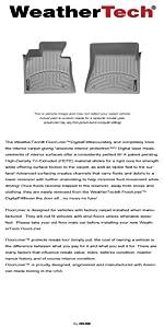 2012 - 2014 Volkswagen Passat - WeatherTech - FloorLiner - Front