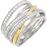 14K Two Tone Gold 1/2 ct. Diamond Fashion Ring
