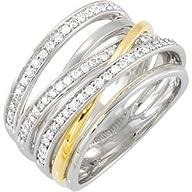 14K Two Tone Gold 1/2 ct. Diamond Fas…