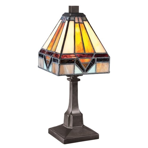 Quoizel Tf1021Tvb Holmes Mini 1 Light Tiffany Table Lamp