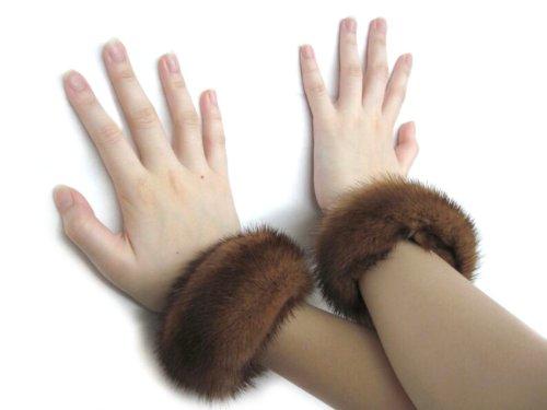 Whiskey Mink Bracelets & Slap-on Cuffs Pair