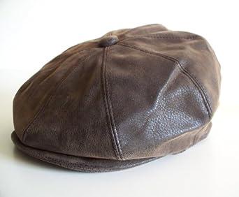 GFM Brown 8 Panel Baker Boy Cap Gatsby Style hat in faux ...