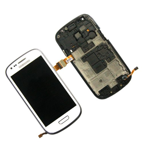 """For 4.0"""" Samsung S3 Siii Mini Gt-I8190 I9300 Amoled Touch Screen Display+Frame Replacement Part (White)"""