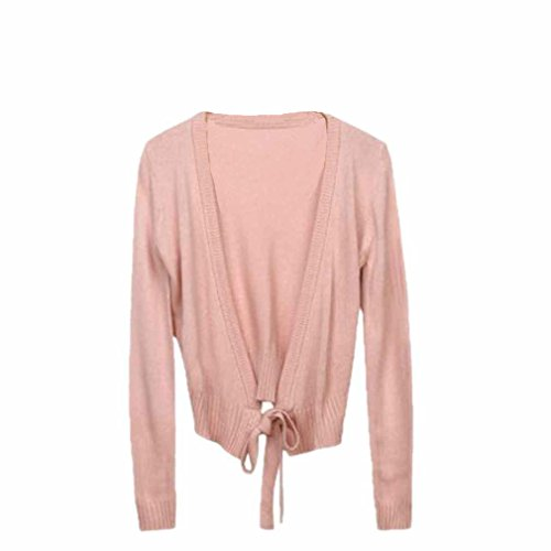 Exquisite Ballet Dancing Adult Sweater Women Wrap Top Warm Halved Belt Costume