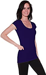 2 or 4 Pack Active Basic Women's Short Sleeve Scoop Neck Tees