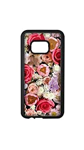 Multicolor Flower Painting Designer Mobile Case/Cover For HTC M9 plus 2D black