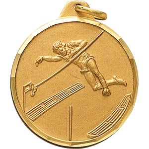 Buy 1 1 4 Inch Gold Male Pole Vault Medal by CM