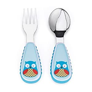 Baby/Infant/Child/Kid Skip Hop ZOOtensils Fork and Spoon, Owl born Gear from MIXSHOP