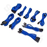 Corsair Professional Gold AX850 AX750 AX650 Series Individually Sleeved Modular Cables Blue : CP-C8920011