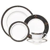 Lenox Vintage Jewel Platinum-Banded Bone China 5-Piece Place Setting Service for 1