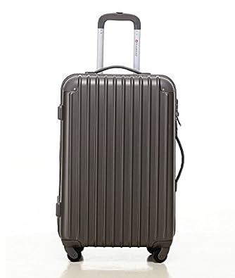 [トラベルハウス]Travelhouse スーツケース [SS グレー] キャリーバッグ TSA ファスナー 4輪