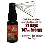 7 hrs energy per day, 1 bottle Use for 21 days: Tire Extinguisher- Energy Spray, All Nature, No Caffeine, No Sugar Rush/Crash