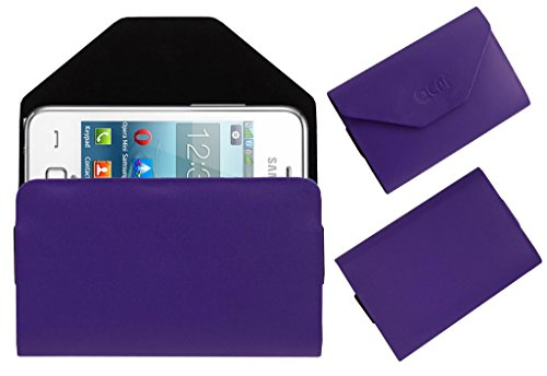 Acm Premium Pouch Case For Samsung Rex 80 S5222r S5222 Flip Flap Cover Holder Purple  available at amazon for Rs.179