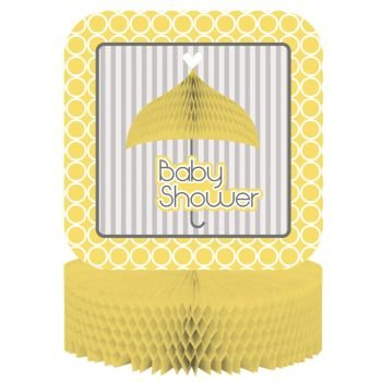 Creative Converting Mod Baby Shower Honeycomb Centerpiece