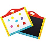Bigjigs Toys Magnetic Dry Wipe Whiteboard and Blackboard with Shapes