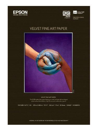 Epson Fine Art Velvet - Velvet paper - A3 plus (329 x 423 mm) - 20 sheet(s)