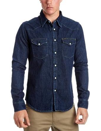 Lee Western Shirt - Chemise en denim - Homme - Bleu - Small