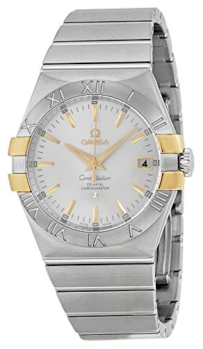 Omega Constellation Silver Dial Steel and Yellow Gold Ladies Watch 12320352002004 (Omega Gold Ladies compare prices)