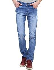Raux Men's Light Blue Faded Slim Fit Jeans - B01EA57MO2