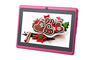 """COLAPAD 7"""" A23 Google Android 4.4 OS 5 Point Capactive Touchscreen Tablet PC MID 512MB DDR 3 8GB Dual Core Dual Camera Pink ..."""