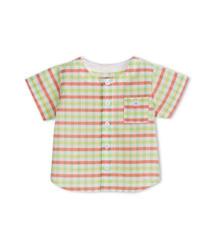 Petit Bateau camicia mezza manica quadri bambino 3 mesi