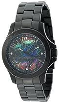 Christian Audigier Unisex ETE-113 Eternity Midnight Ion-Plating Black Stainless Steel Watch