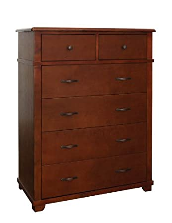 Bolton 8411700 Woodridge 6-Drawer Chest, Chestnut