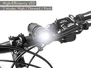 Fahrradlampen Set - Superhelle LED-Lampen fürs Fahrrad - Einfach zu montierende Vorder- und Rücklampe mit Schnellverschluss-System - Beste Front- und Rückbeleuchtung - Passend für alle Räder - 200 Lumen from TeamObsidian