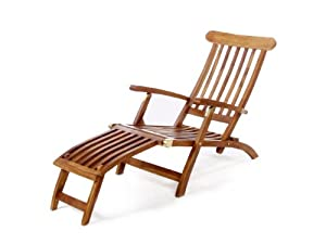 All Things Cedar All Things Cedar 5 Position Steamer Chair, Wood