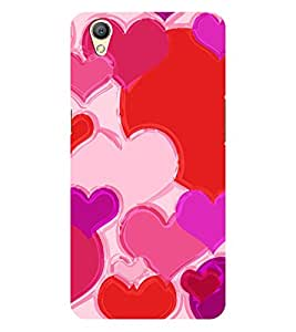Chiraiyaa Designer Printed Premium Back Cover Case for OPPO A37 (heart boy girl friend valentine miss kiss) (Multicolor)