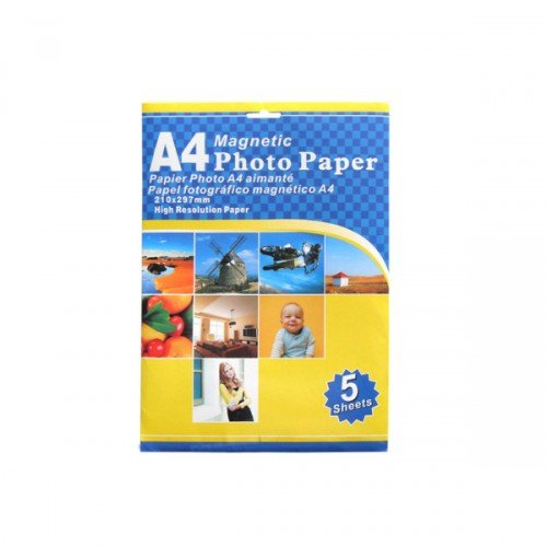 """Magnetic Photo Paper, 5 Sheets"""