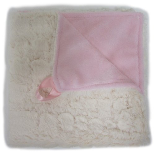 Baby Doll Bedding Sheepskin Huggable Blanky, Ecru/Pink front-814505