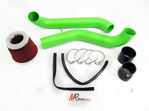 96 97 98 99 00 Honda Civic with 1.6L (CX/DX/LX/VP) GREEN Piping Cold Air Intake System Kit with Red Filter