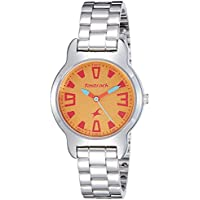 Fastrack YELLOW Dial Analog Watch For Women-6127SM02