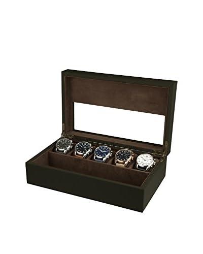 AVI-8 Men's AV-CBOX-04 Khaki Leather Collector Box