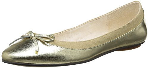 Buffalo London 207-3562 Metallic Sheep Lea - Ballerine Donna, Oro (GOLD 01), 40 EU