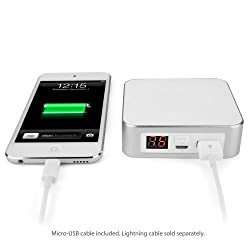 Rejuva Power Pack Pro - Compact, Portable 7800 mAh Rechargeable Li-ion Smartphone Battery Charger, Recharge up to 3 Times with a Single Charge! (White)