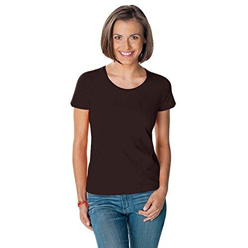 hanes-tasty-silky-feel-cotone-maglietta-misure-10-18-brown-medium