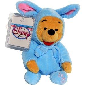 Blue Easter Bunny Rabbit Suit Pooh - Disney Mini Bean Bag Plush - 1