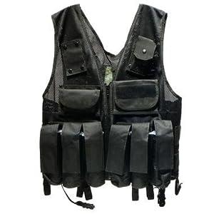 Rap4 Tactical Ten Paintball Scenario Vest - SWAT Black - Large