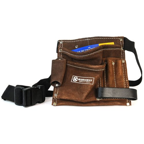 41EDuhJ4BAL - BEST BUY #1 5 POCKET TOOL APRON WORK BELT POUCH ADJUSTABLE SPLIT LEATHER HAMMER LOOP NEW Reviews and price
