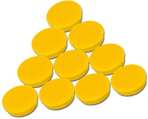 Set da 10 magneti gialli - Ø 30 mm - calamite rotondi da ufficio gialli con 300 g forza di tenuta per lavagne bianche lavagne magnetiche pannelli magnetici pannelli per appunti frigorifero