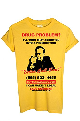 T-SHIRT SAUL GOODMAN BREAKING BAD-SERIE TV by MUSH Dress Your Style - Uomo-L-GIALLA
