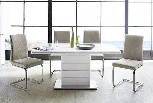 esszimmertisch ausziehbar wei hochglanz com forafrica. Black Bedroom Furniture Sets. Home Design Ideas