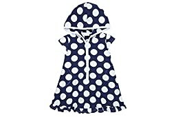 Le Top Girls Big Dot Hooded Beach Cover-Up - Happy Sails