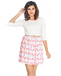 Young Trendz Peach & Red Printed Dress